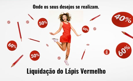 Lápis Vermelho Sale has discounts of up to 70% in Multiplan's shopping centers