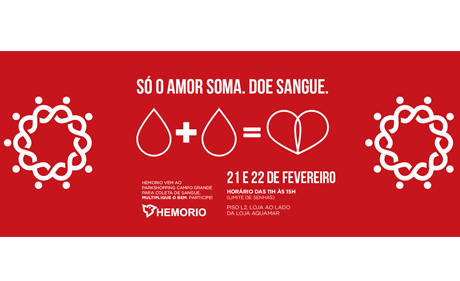 ParkShoppingCampoGrande and HEMORIO promote blood collection campaign